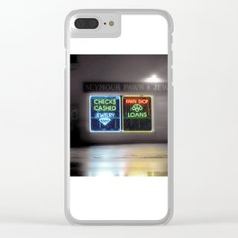City Nights photography art Clear iPhone Case