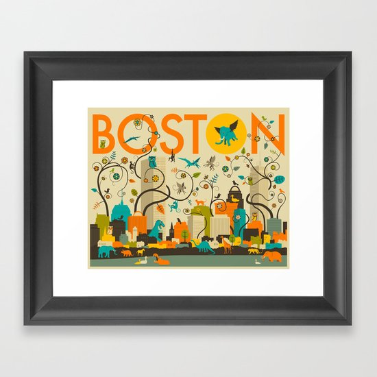WILD BOSTON Framed Art Print
