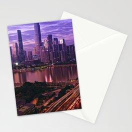 Famous Liede Bridge Pearl River Guangzhou Guangdong China Pazhou Haizhu Tianhe Ultra HD Stationery Cards