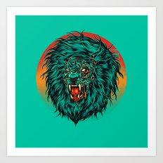 Zombie Lion Art Print