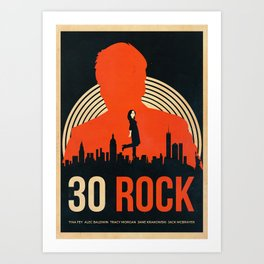 30 Rock Alternative Vintage Poster Art Print