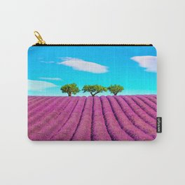Lavender, Clouds and Trees Carry-All Pouch