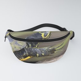 Watercolor Turtle Eastern Painted Turtle 03, Stretch! Fanny Pack
