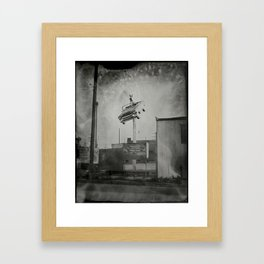 Vintage Signage in North Hollywood - 8x10 Tintype Photo Framed Art Print