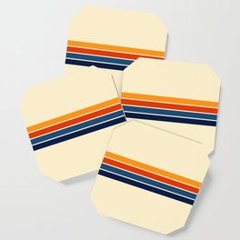 Classic Retro Stripes Coaster