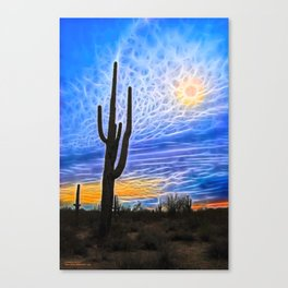 Sun Dogs and Desert Visions IV Canvas Print