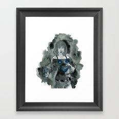 Guns to a Knife Fight Framed Art Print