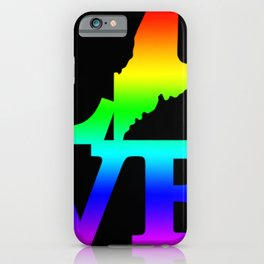 Maine Pride USA State Love Map iPhone Case