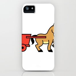 Mule and cart icon iPhone Case