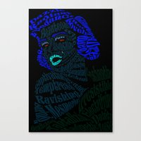 verse Canvas Prints featuring Marilyn Verse by Kaitlyn Brown