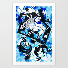 BUNNYGIRL UNDER GROUND Art Print