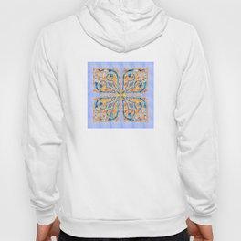 Blue Oriental Tile 02 Hoody