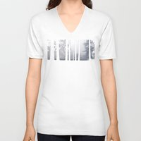 narnia V-neck T-shirts featuring Misty Park by Lyssia Merrifield