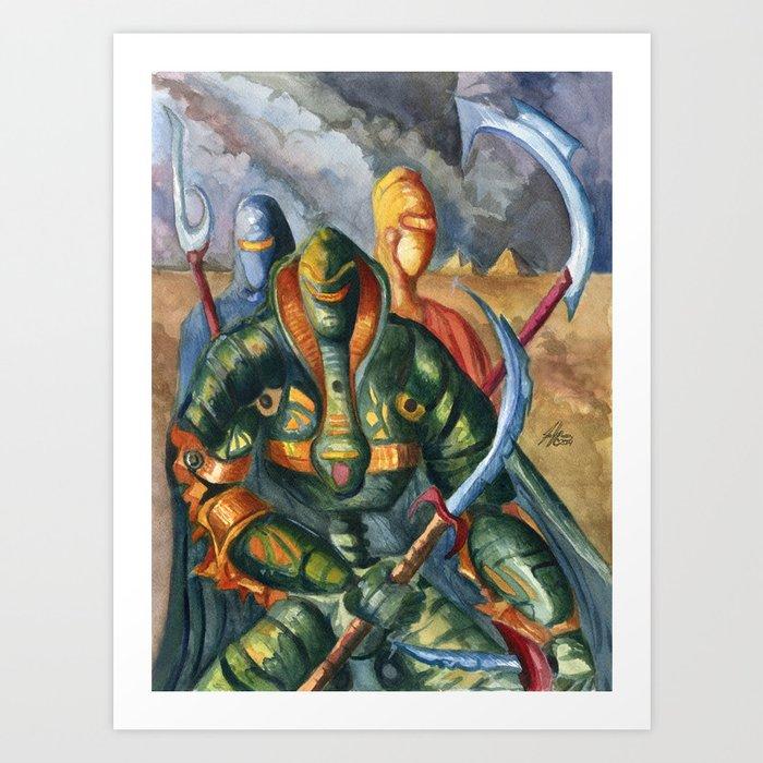 The Serpentine Trio Art Print