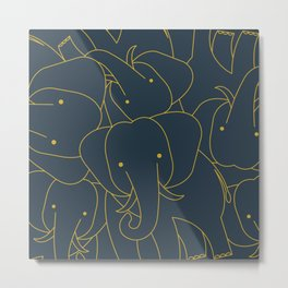 Minimalist Elephant Metal Print