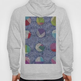 Layered Dots on Blue Hoody