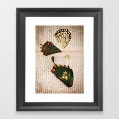 Words like butterflies Framed Art Print