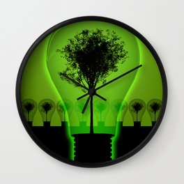 BulB Tree Wall Clock