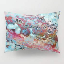Colorful abstract marble II Pillow Sham
