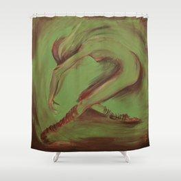 Dancer green Shower Curtain