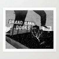 Grand Canal Docks Art Print