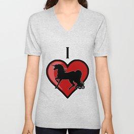 I Heart Unicorns Unisex V-Neck
