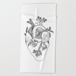 Growing heart Beach Towel