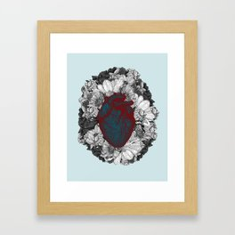 Fleeting heart Framed Art Print