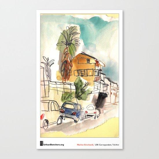 "Marina Grechanik, ""TelAviv Corner"" Canvas Print"