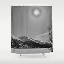 Winter at Summit Lake Shower Curtain