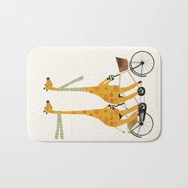 lets tandem giraffes Bath Mat