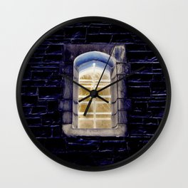 Keep One Eye Open at Night Wall Clock