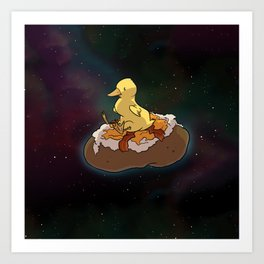 Space Duck Art Print