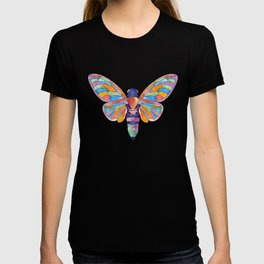 Watercolor Rainbow Cicada Vector T-shirt