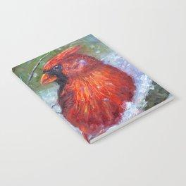 Winter Cardinal Notebook