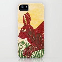 Leaping Hare iPhone Case