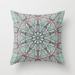 Geometric Abstract Art, Colorful Scared Geometry Throw Pillow