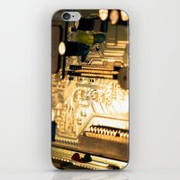 technology iPhone & iPod Skins featuring Sunset Technology by Encore Designs