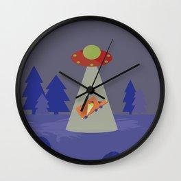 UFO wants the whole Ice-cream truck Wall Clock