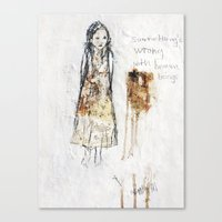 human Canvas Prints featuring human by woman