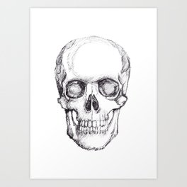 Hand Drawn Skull Art Print