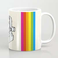polaroid Mugs featuring Polaroid  by GetNaked