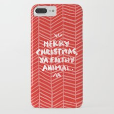 Merry Christmas, Ya Filthy Animal – Red Slim Case iPhone 7 Plus