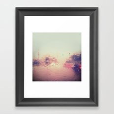 rainy reflections Framed Art Print