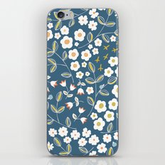 Ditsy Blue iPhone & iPod Skin