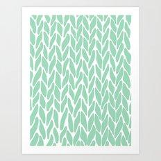 Hand Knitted Mint Art Print