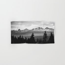 Morning in the Mountains Black and White Hand & Bath Towel