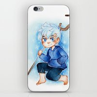 jack frost iPhone & iPod Skins featuring Jack Frost by noCek