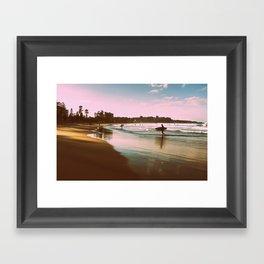 Manly beach surf Framed Art Print