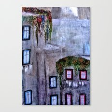 Houses in Milan in the evening Italy Canvas Print